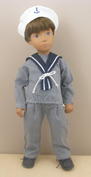 Sasha Doll  Red and White Smock Outfit